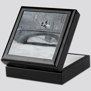 Winter Christmas dressage horse Keepsake Box