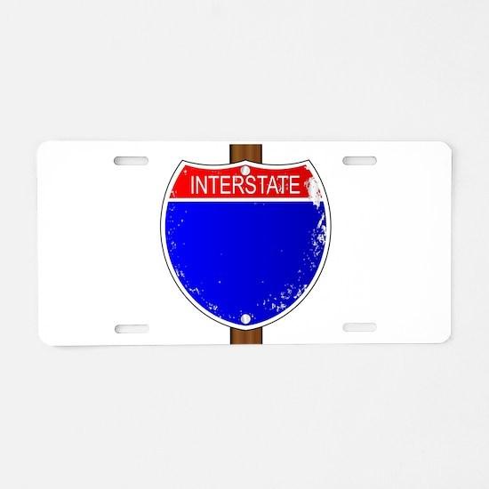 Interstate Sign Aluminum License Plate