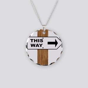 This Arrow Necklace Circle Charm