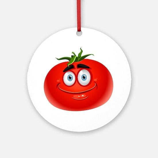 Cute Tomato Round Ornament