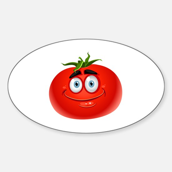 Cute Tomato Sticker (Oval)