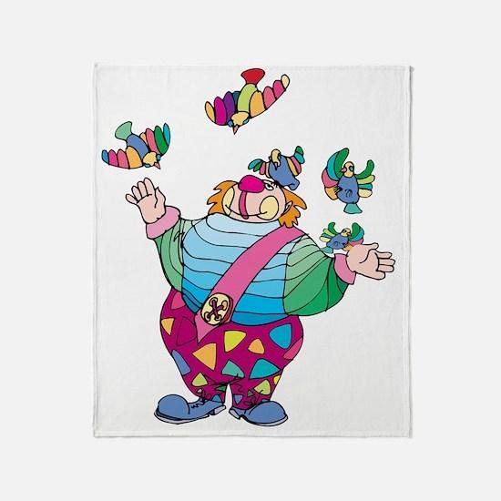 Unique Clown Throw Blanket