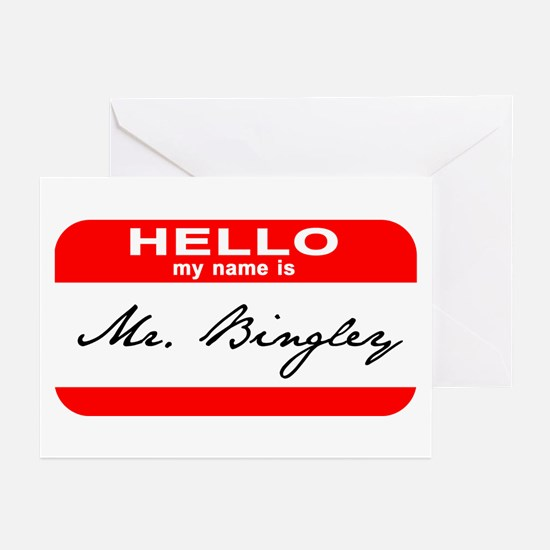 Hello My Name is Mr. Bingley Greeting Cards (Pk of