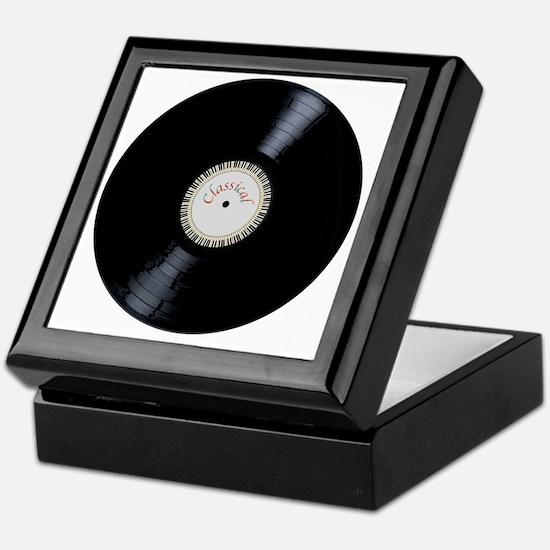 Unique Vinyl records Keepsake Box