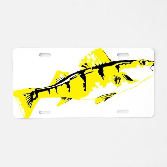 Cute Crappie fishing Aluminum License Plate