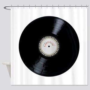 Classical Record Shower Curtain