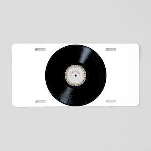 Classical Record Aluminum License Plate