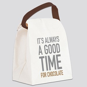 Chocolate Canvas Lunch Bag