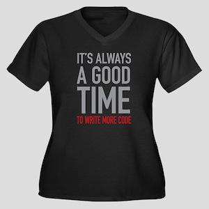 Write More Code Plus Size T-Shirt
