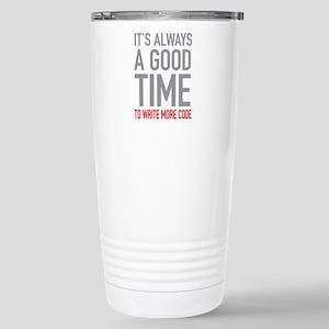 Write More Code Stainless Steel Travel Mug