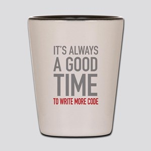 Write More Code Shot Glass