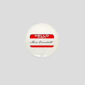 Hello My Name is Ms. Liz Mini Button