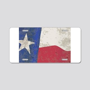 Texas State Flag Aluminum License Plate