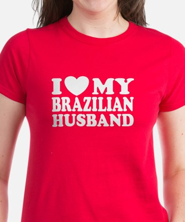 I Love My Brazilian Husband Women's Dark T-Shirt