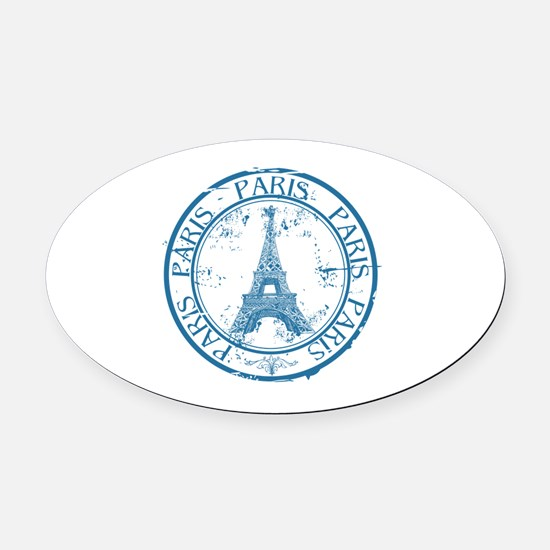 Cute Paris Oval Car Magnet