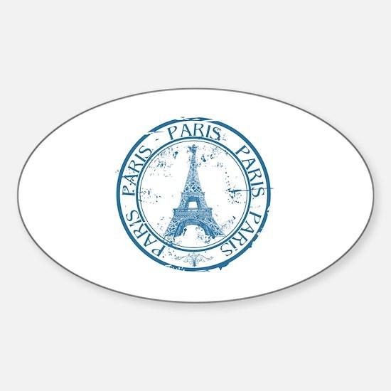 Cool Paris Sticker (Oval)