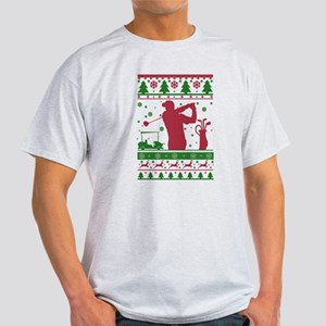 Golf Ugly Christmas Sweater T-Shirt