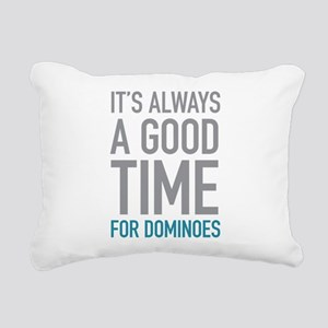 Dominoes Rectangular Canvas Pillow