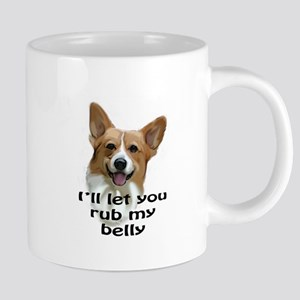 Corgi belly rub Mugs