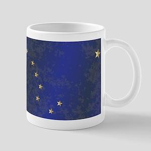 Flag of Alaska Grunge Mugs