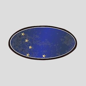 Flag of Alaska Grunge Patch