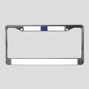 Flag of Alaska Grunge License Plate Frame