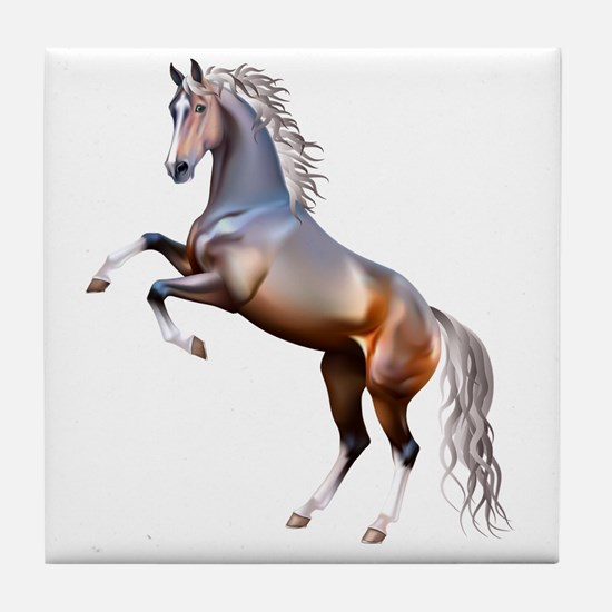Funny Horses Tile Coaster
