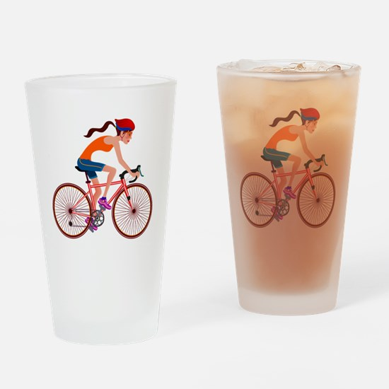 Unique Bicycle riding Drinking Glass