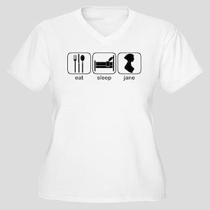 Eat Sleep Jane Women's Plus Size V-Neck T-Shirt