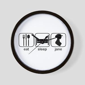 Eat Sleep Jane Wall Clock
