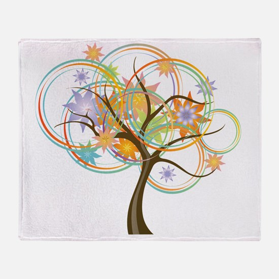 Funny Abstract tree Throw Blanket