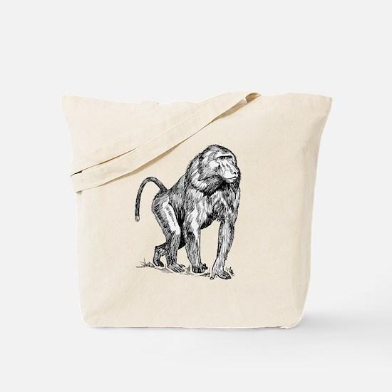Funny Baboon Tote Bag