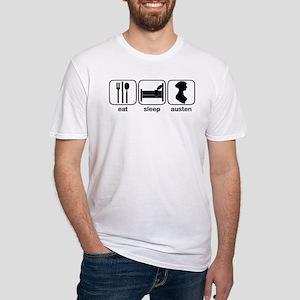 Eat Sleep Austen Fitted T-Shirt