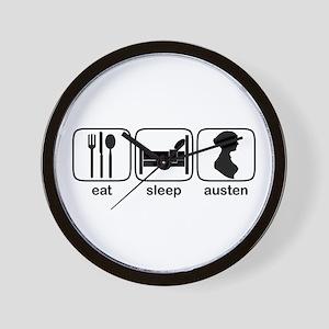 Eat Sleep Austen Wall Clock