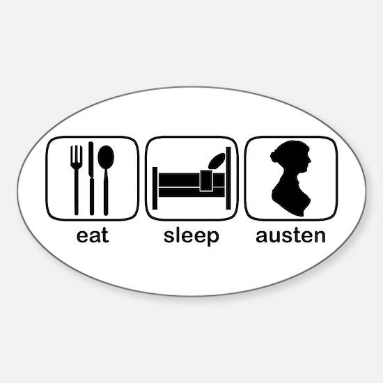 Eat Sleep Austen Oval Decal
