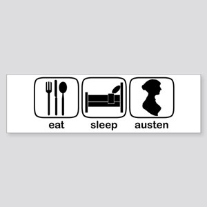 Eat Sleep Austen Bumper Sticker