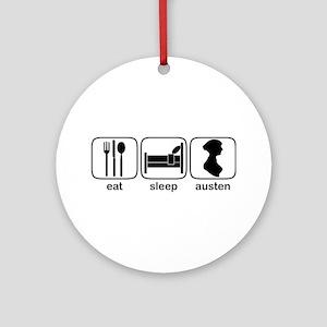 Eat Sleep Austen Ornament (Round)