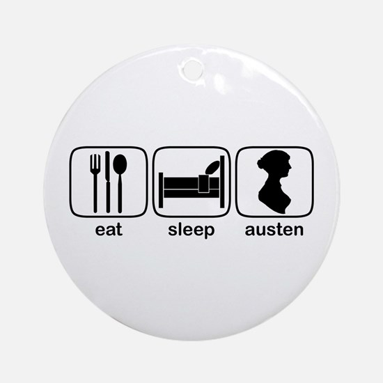 Eat Sleep Austen Ornament (Round)