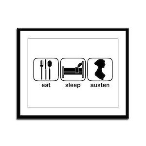 Eat Sleep Austen Framed Panel Print