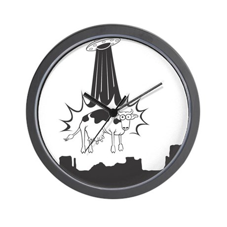 Cow Abduction Wall Clock
