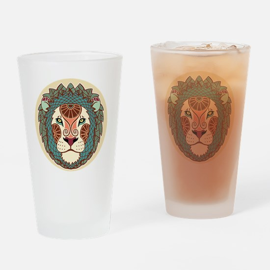 Funny Leo Drinking Glass