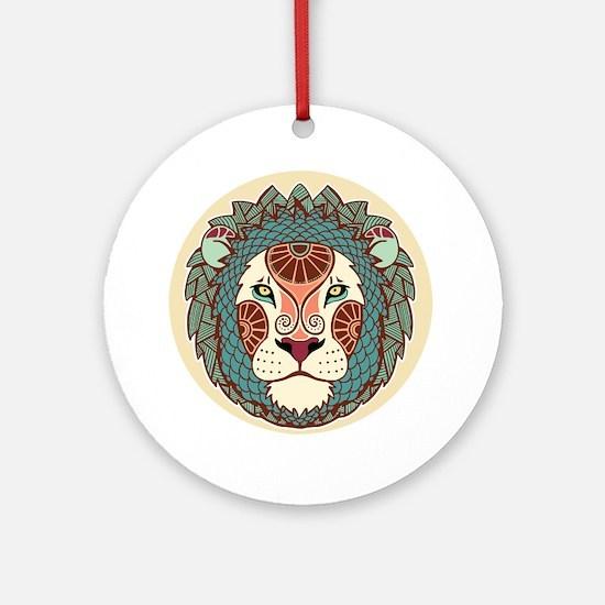 Funny Leo Round Ornament