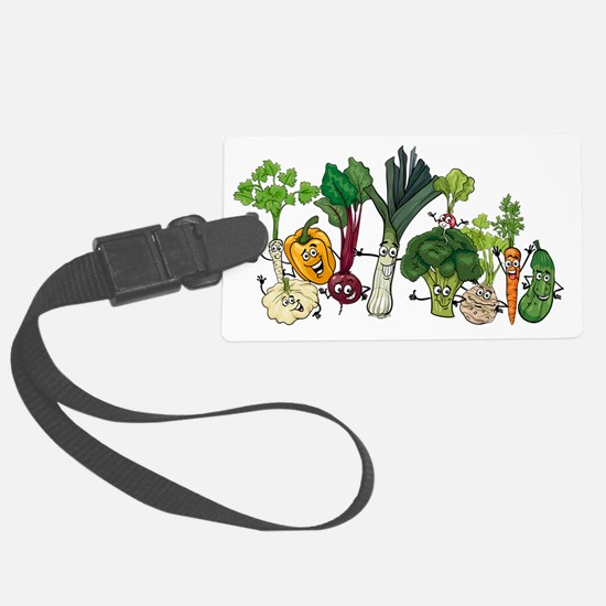 Cute Vegetables Luggage Tag