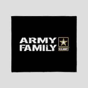 U.S. Army: Family (Black) Throw Blanket