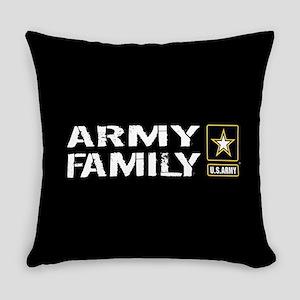 U.S. Army: Family (Black) Everyday Pillow