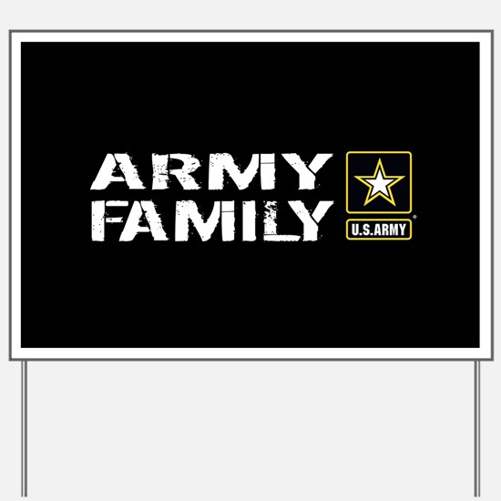 U.S. Army: Family (Black) Yard Sign
