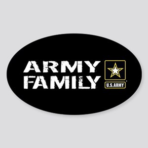 U.S. Army: Family (Black) Sticker (Oval)