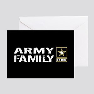 U.S. Army: Family (Black) Greeting Card
