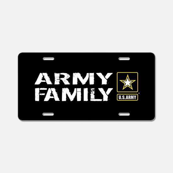 U.S. Army: Family (Black) Aluminum License Plate
