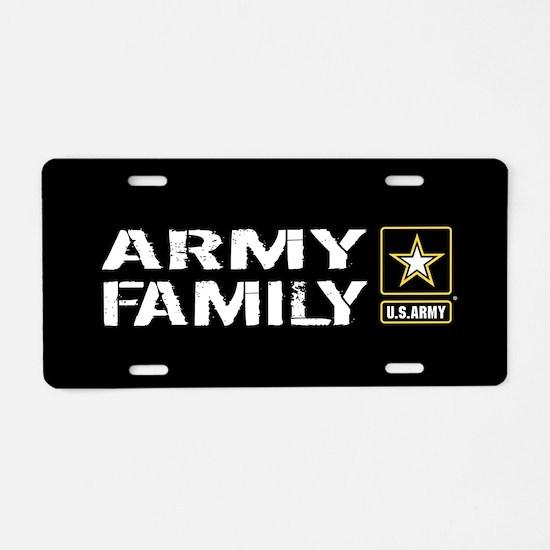 U.S. Army: Family (Black) Aluminum License Plate